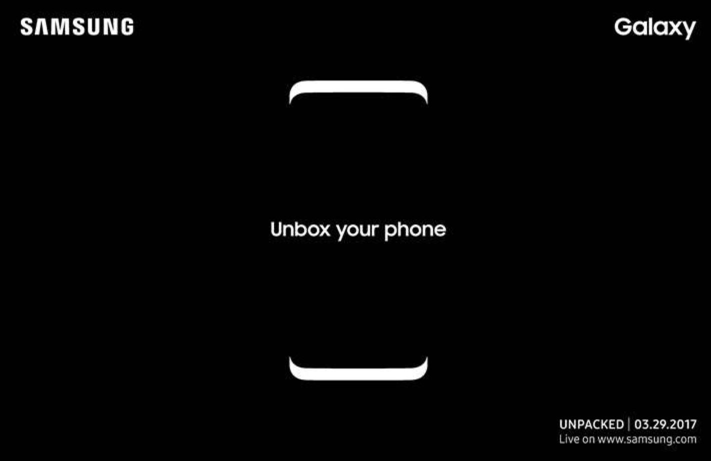 Samsung Galaxy S8 launch invitation