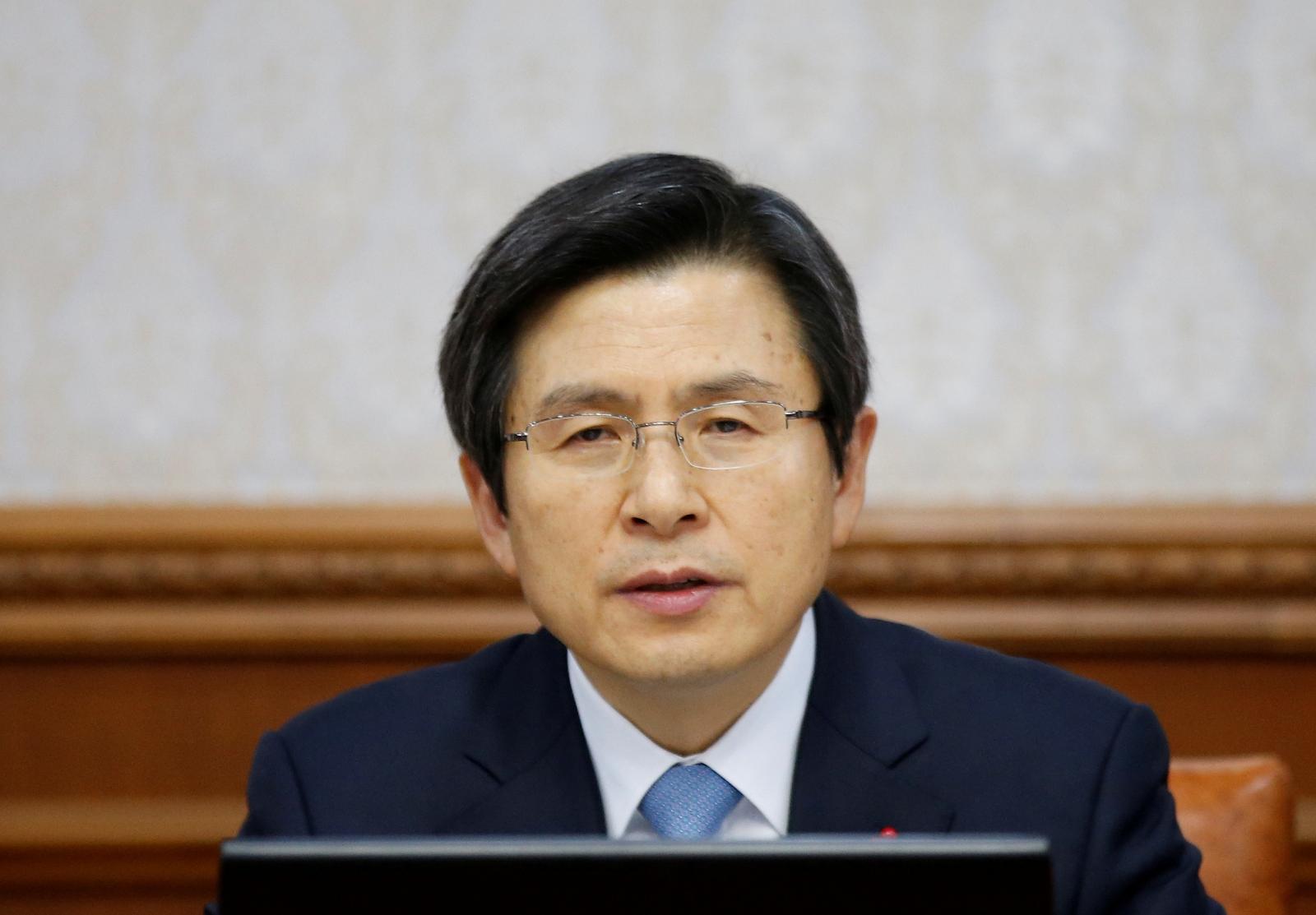 South Korea's Prime Minister Hwang Kyo-ahn