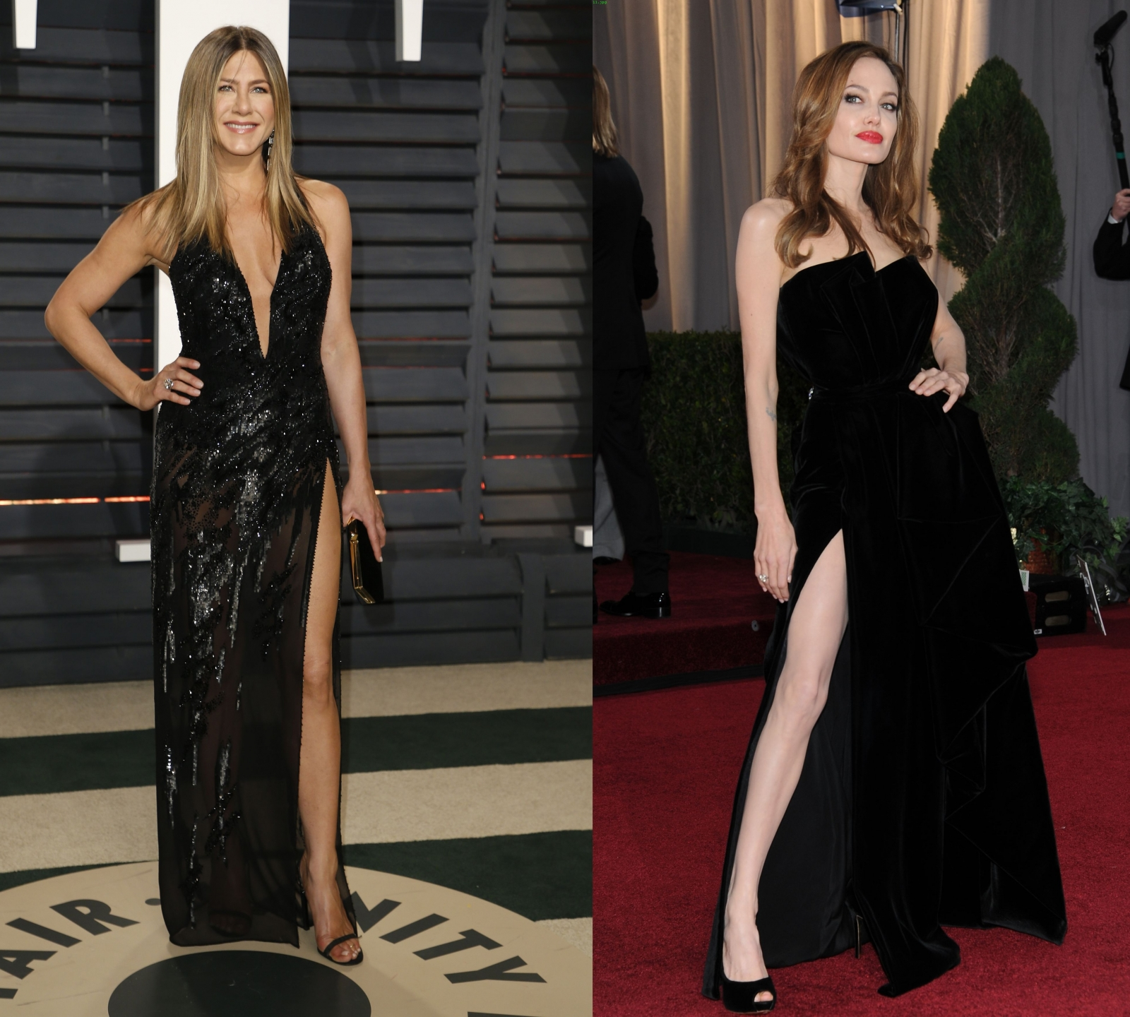 Did Jennifer Aniston steal Angelina Jolie's 'thigh slit ...