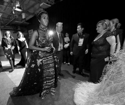 Backstage at the Oscars 2017