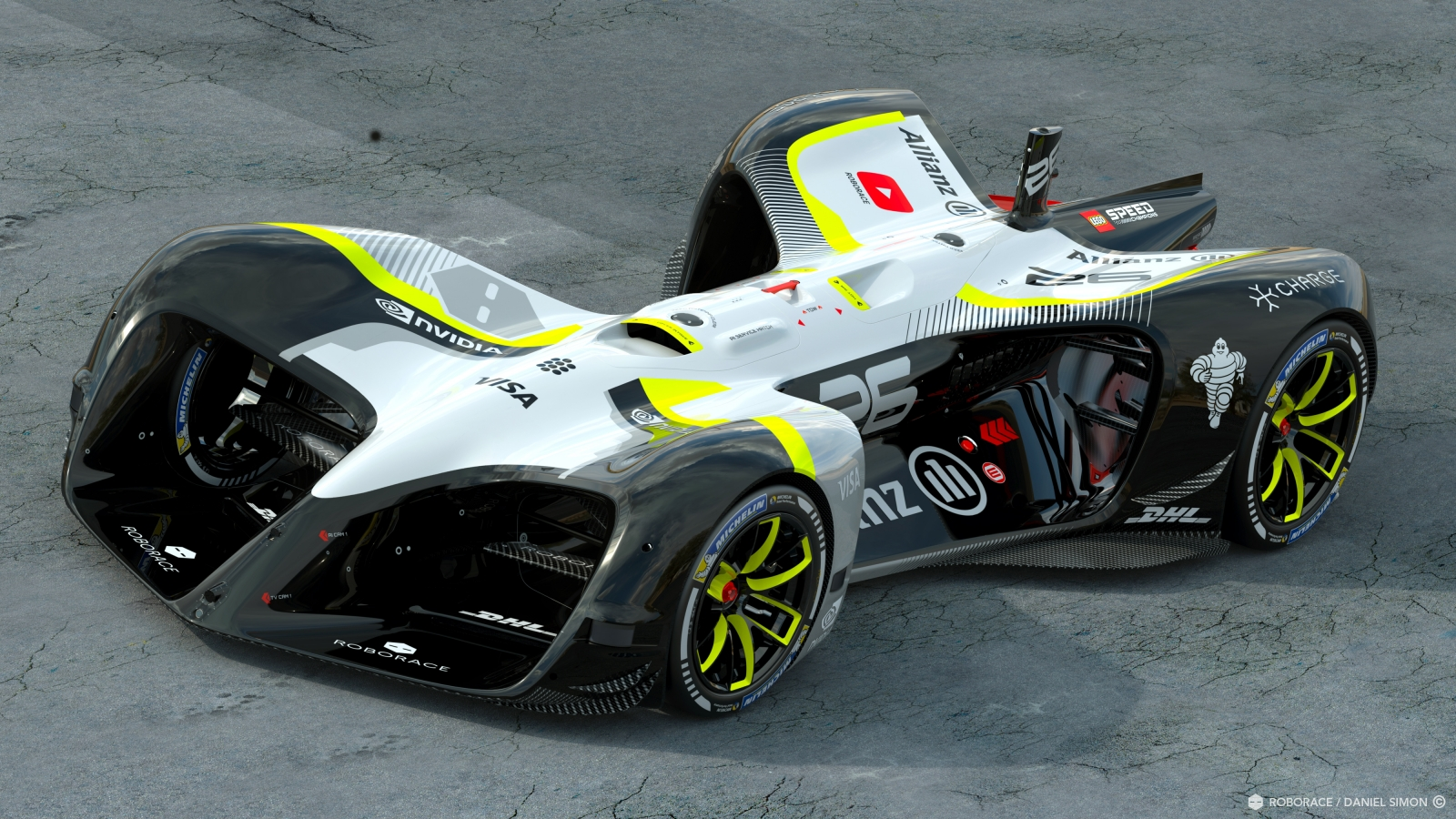 Roborace autonomous race car, the Robocar