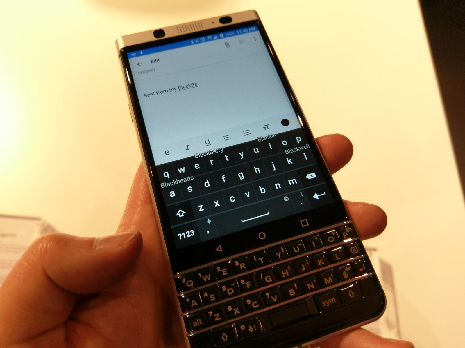 BlackBerry KeyOne preview: Hands-on with the keyboard-toting