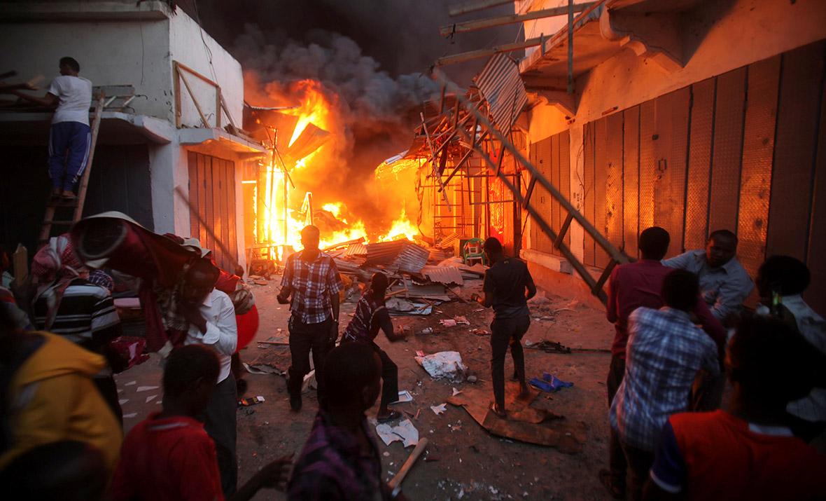 Bakara market fire