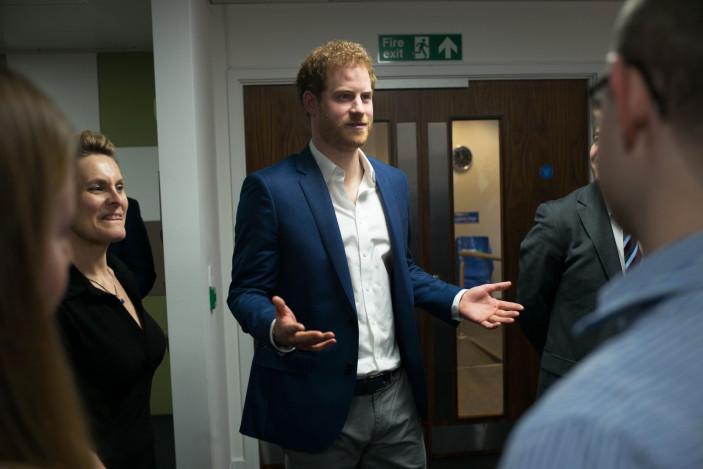 Prince Harry visits Big White Wall