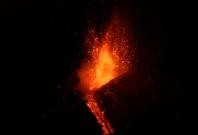 Spectacular lava show as Mount Etna erupts again