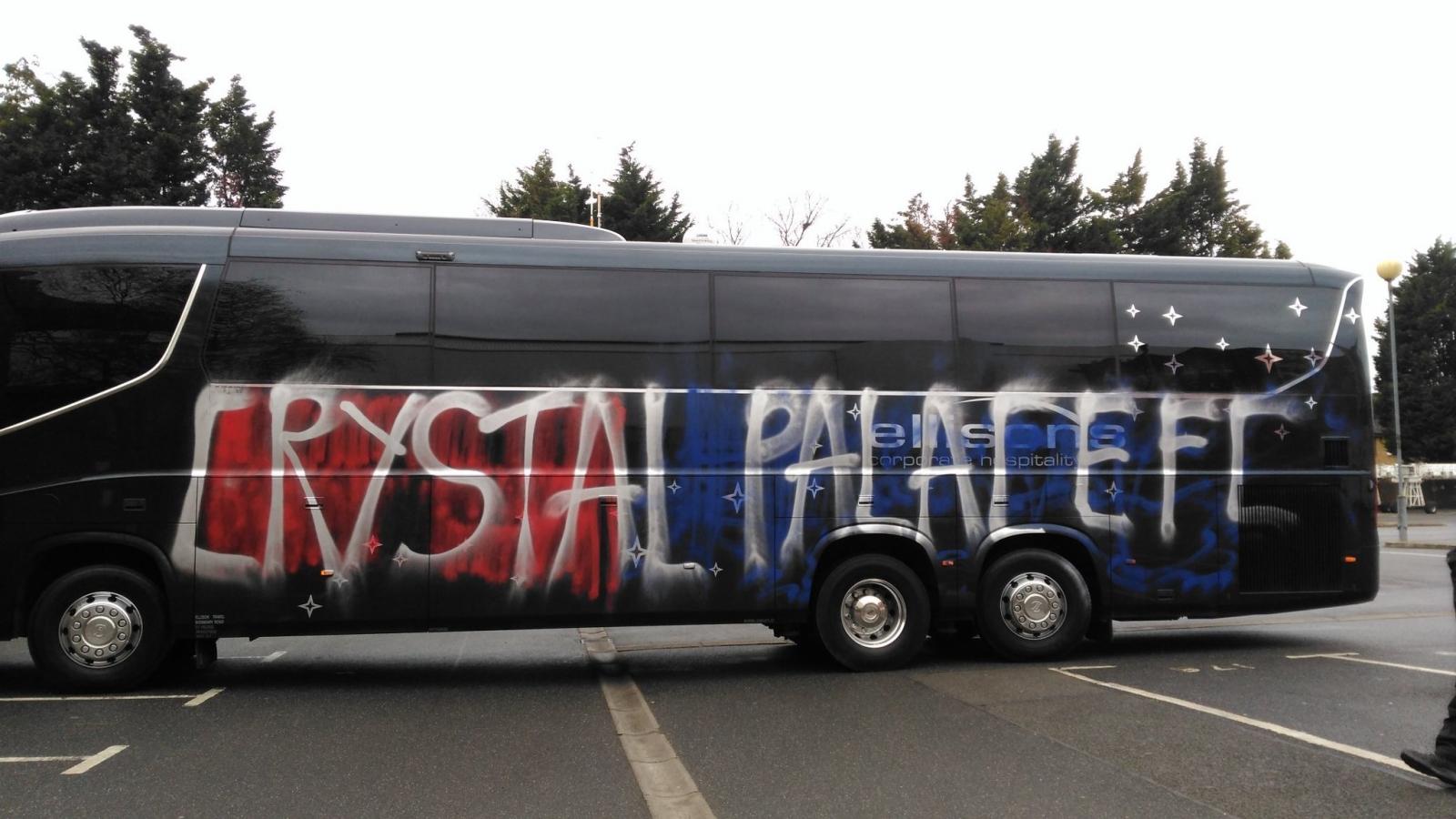 Crystal Palace bus vandalised