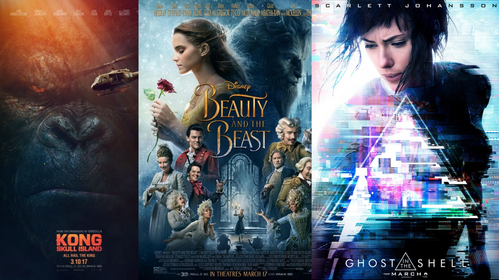 March film preview - Kong: Skull Island, Beauty and the Beast and Ghost In The Shell