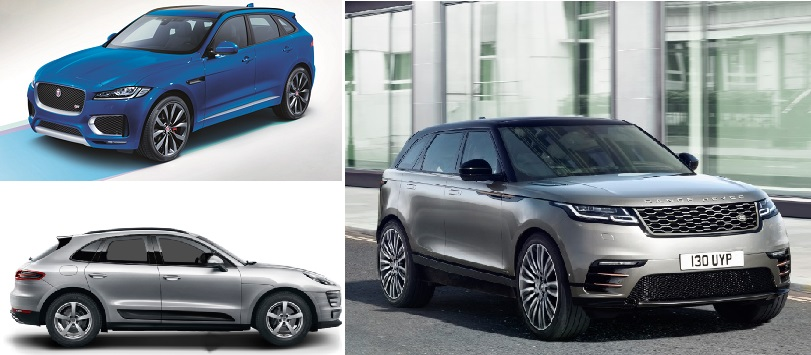 how much does the range rover velar cost prices compared to jaguar f pace and porsche macan. Black Bedroom Furniture Sets. Home Design Ideas