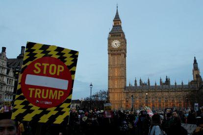 Anti-Trump protests UK