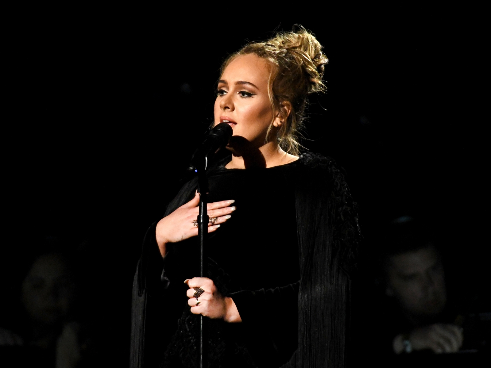 Adele performing
