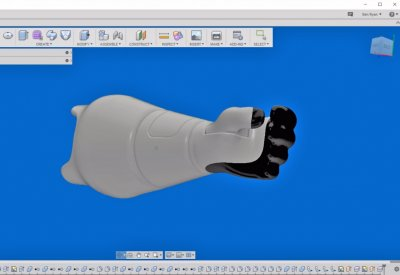 Ambionics Arm being designed in Autodesk Fusion360