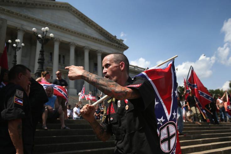 Ku Klux Klan outside South Carolina Statehouse