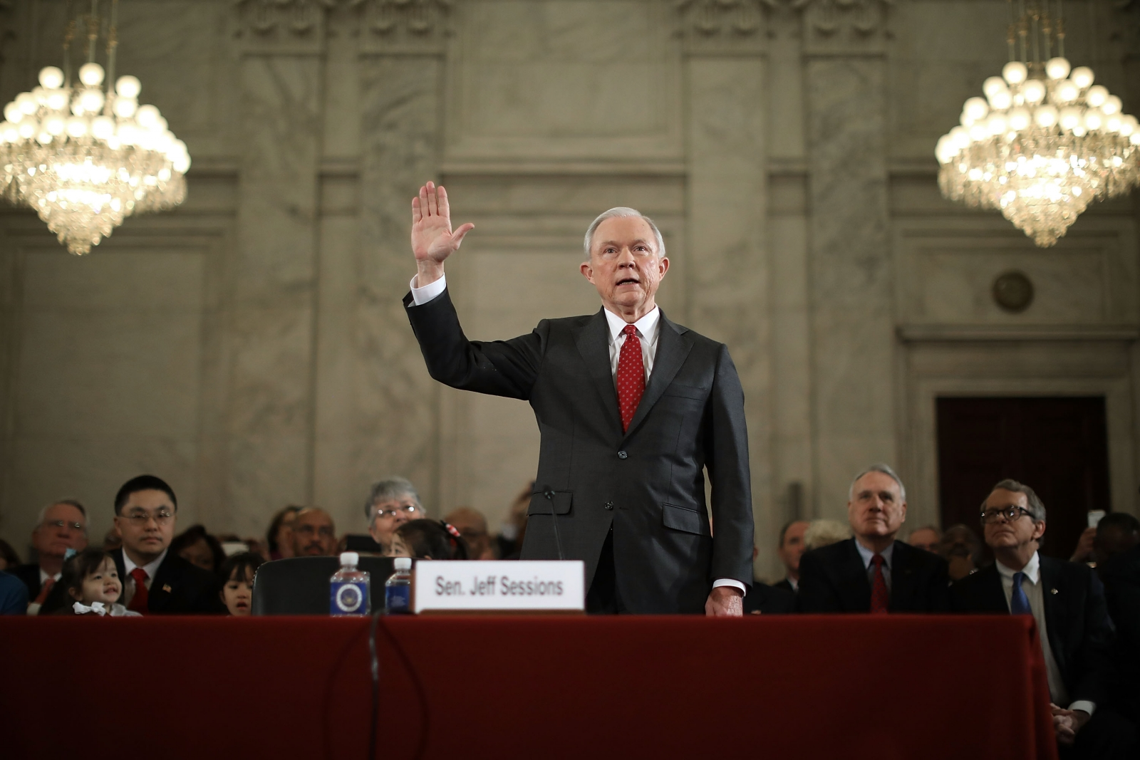 Jeff Sessions sworn in for confirmation hearing