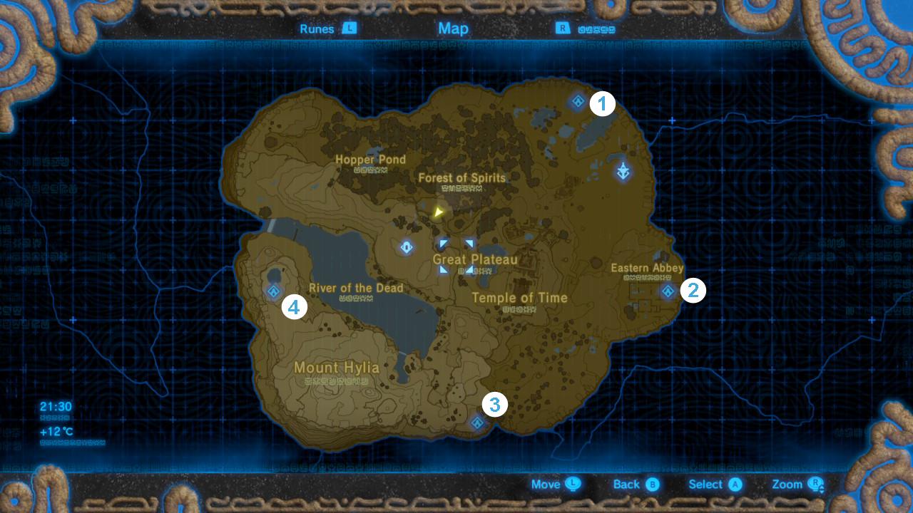 Zelda Great Plateau Map