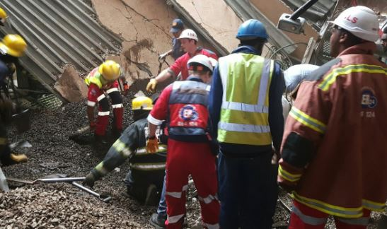 South Africa hospital roof collapse sparks search