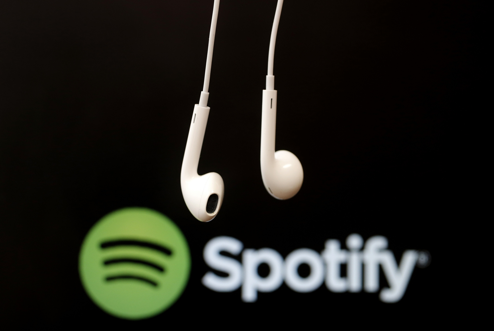 Spotify logo headphones