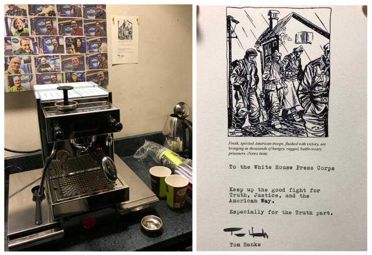Tom Hanks White House press