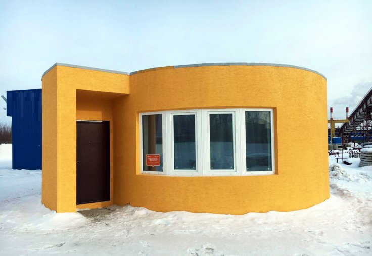 Russia's first 3D printed house