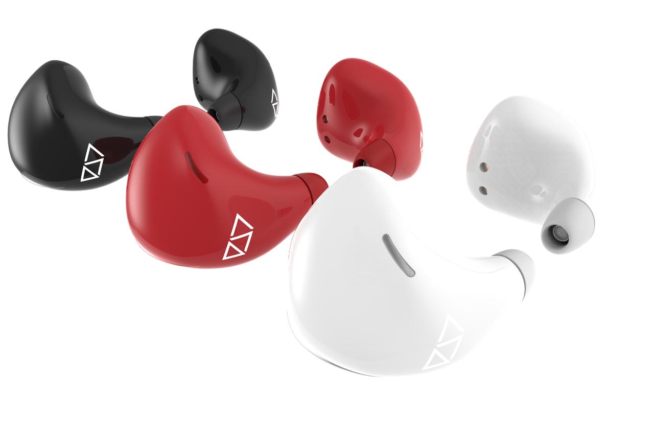 Pilot earpieces in different colours