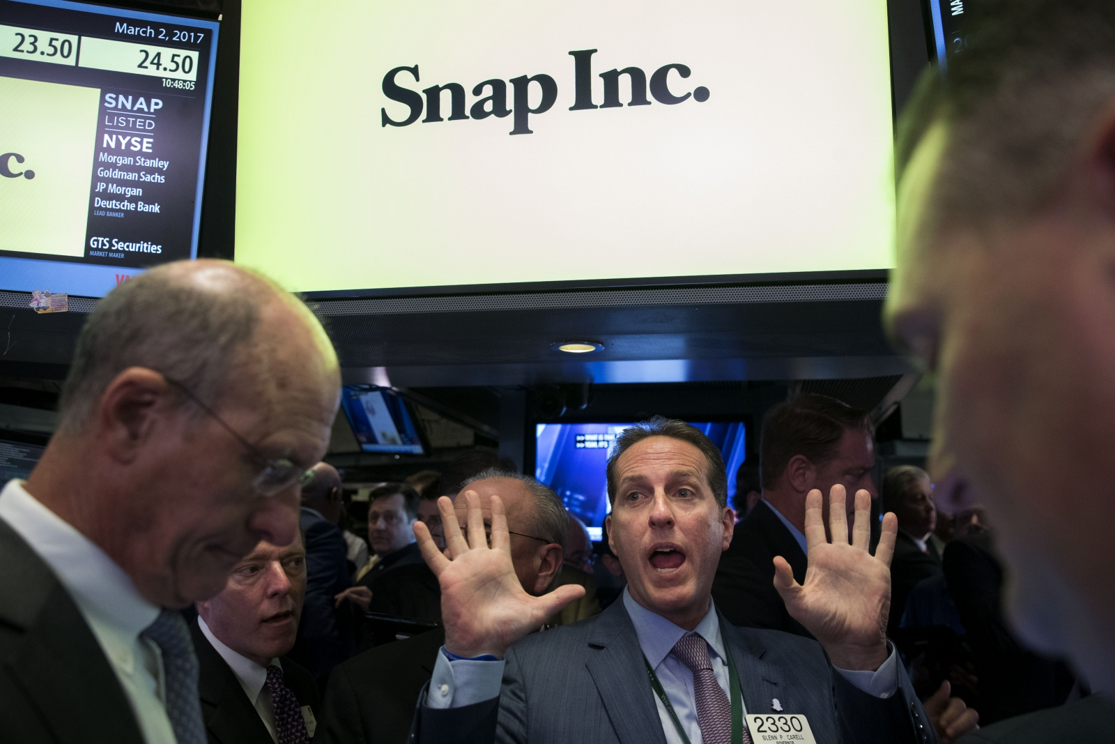 What was behind snaps high ipo