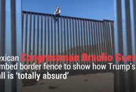 Mexican Congressman Climbed Border Fence To Show How Trump's Wall Is Absurd