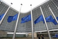 European flagts at European Commission