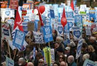 NHS protest 6 March 2017 protestors