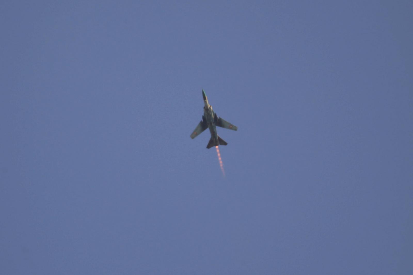 Syria warplane shot down