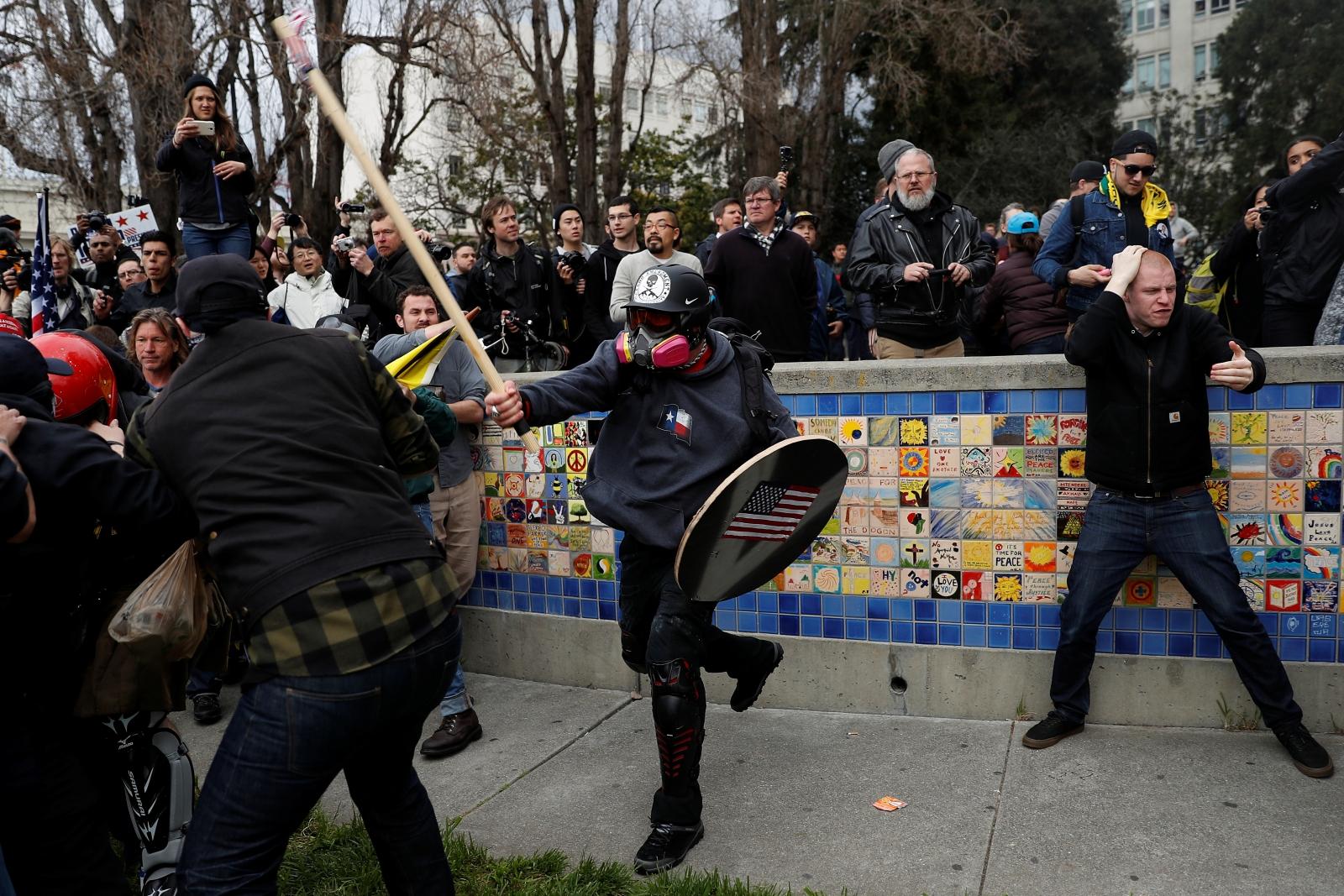 """People 4 Trump"" rally in Berkeley, California"