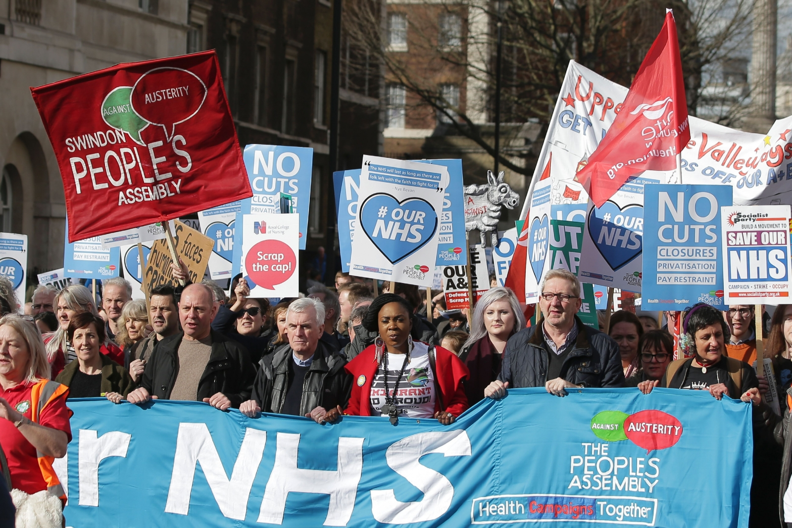 NHS March in London on 4 March 2017