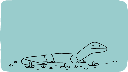 google doodle Komodo dragon