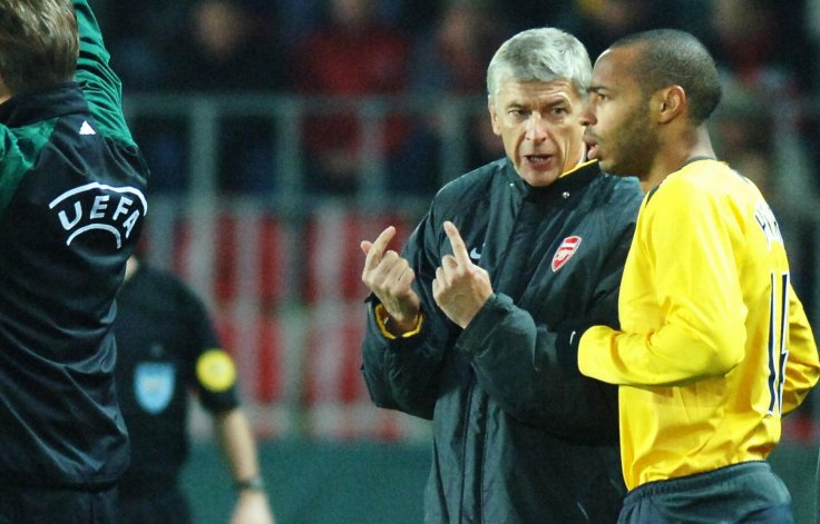 Arsene Wenger and Thierry Henry