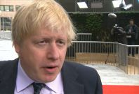 Boris Johnson speaking about Russia