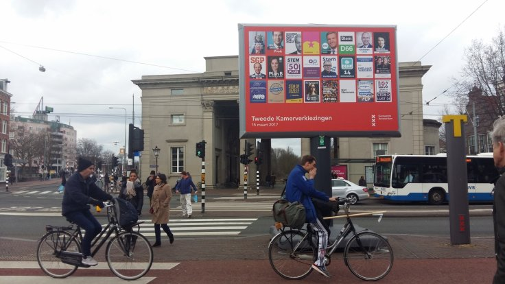 Election posters in Amsterdam