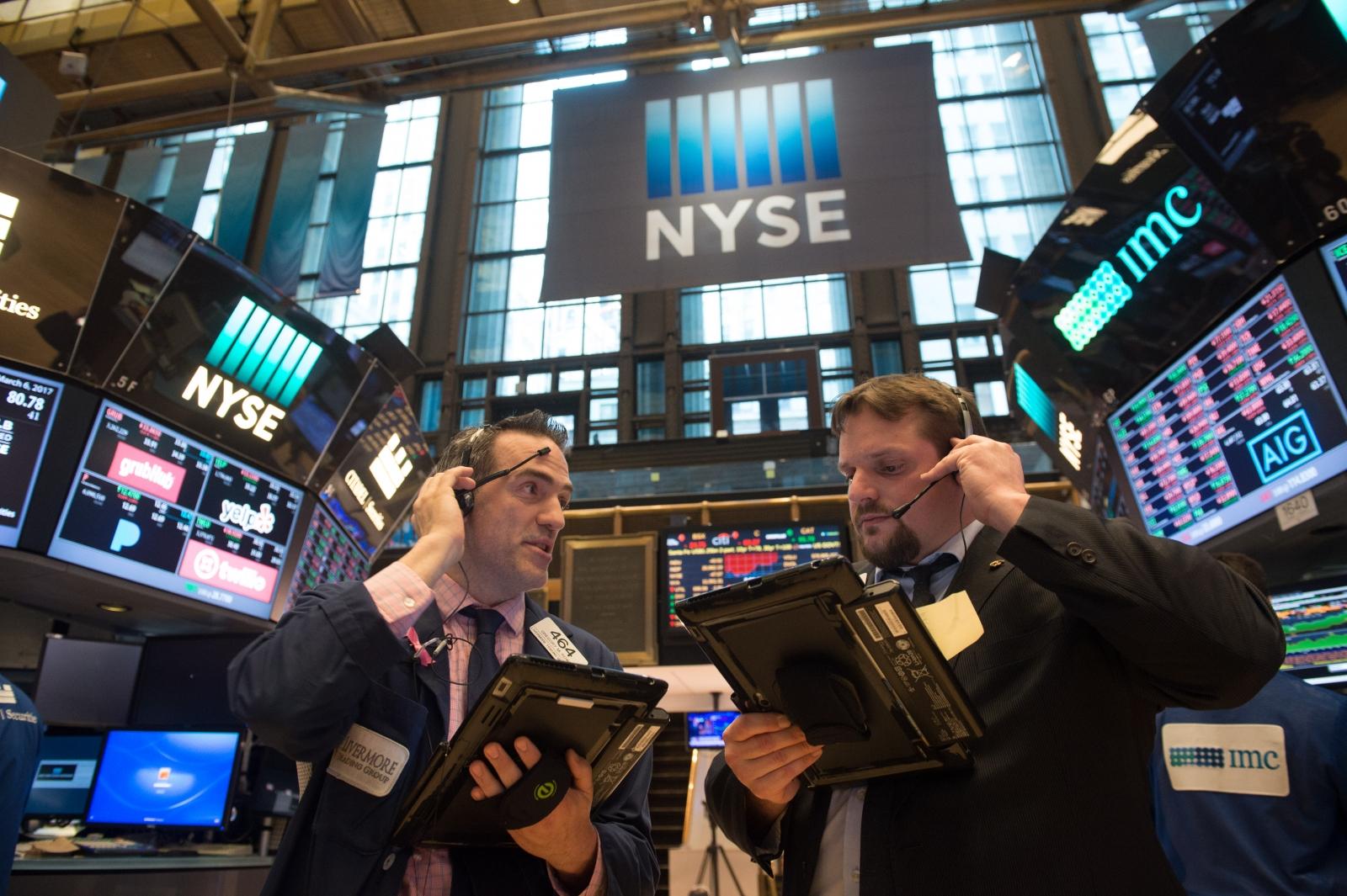 Trader at New York Stock Exchange