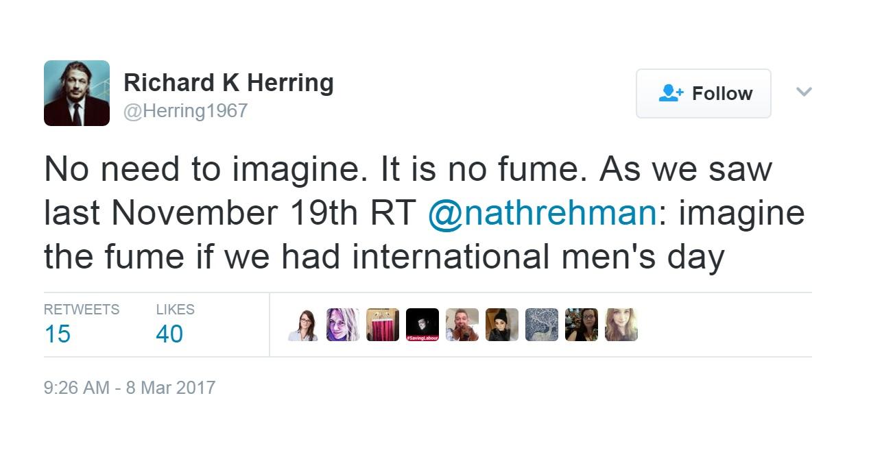 Richard Herring tweet
