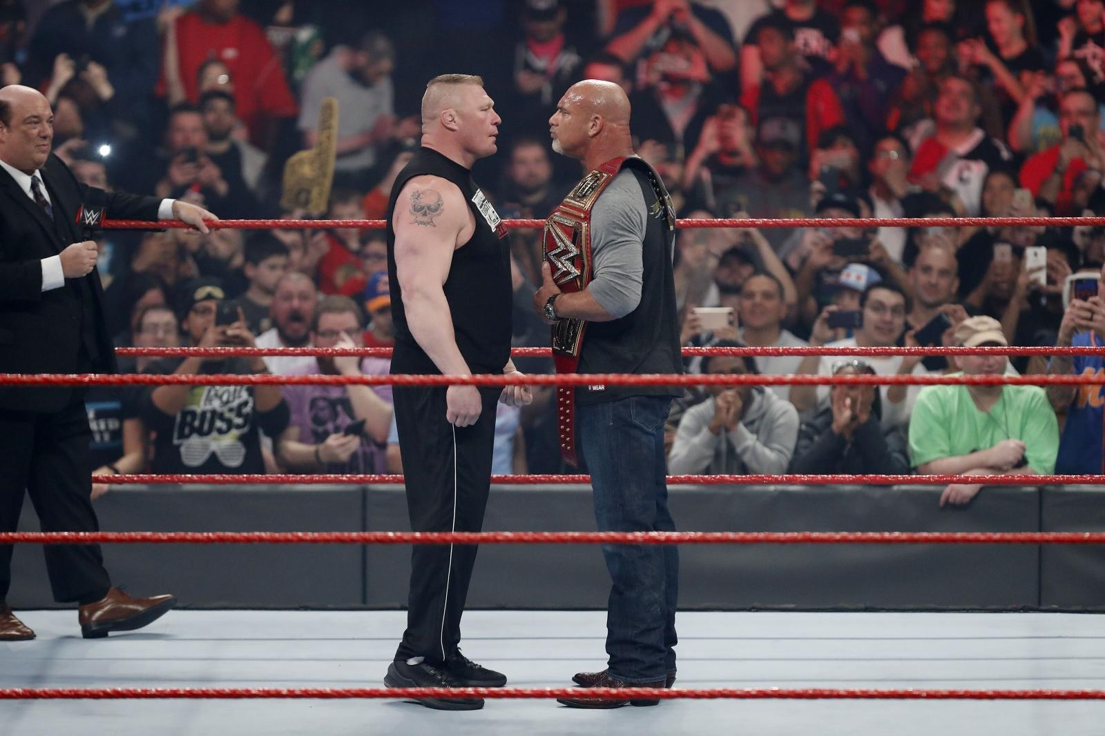 WWE RAW Goldberg Brock Lesnar
