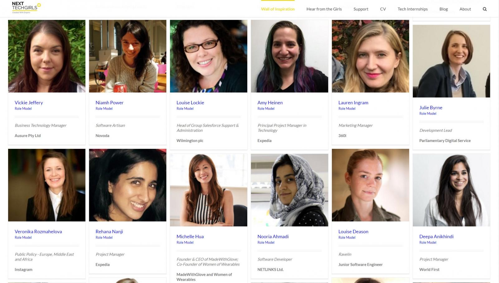 Next Tech Girls role models