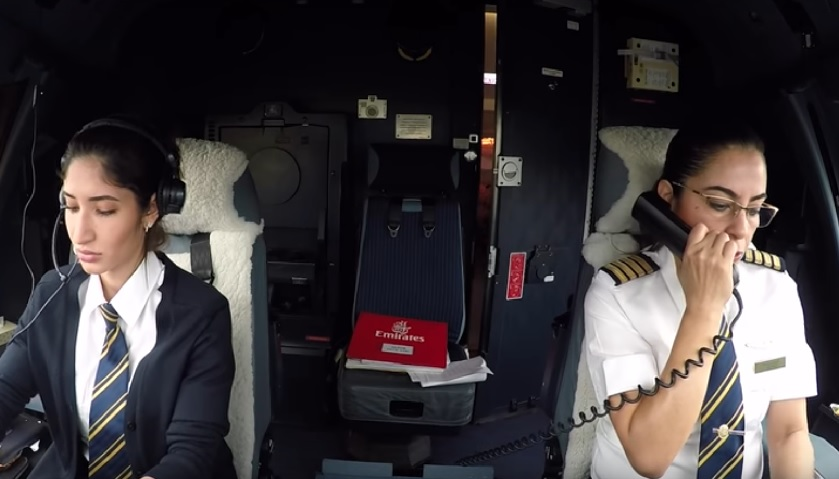 Emirates pilots fly A380