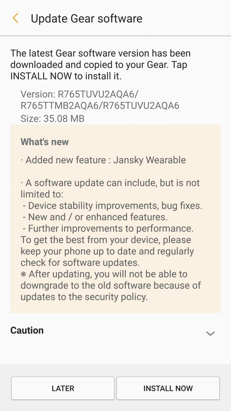 Gear S3 Frontier firmware update