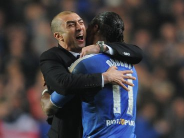 Roberto Di Matteo and Didier Drogba