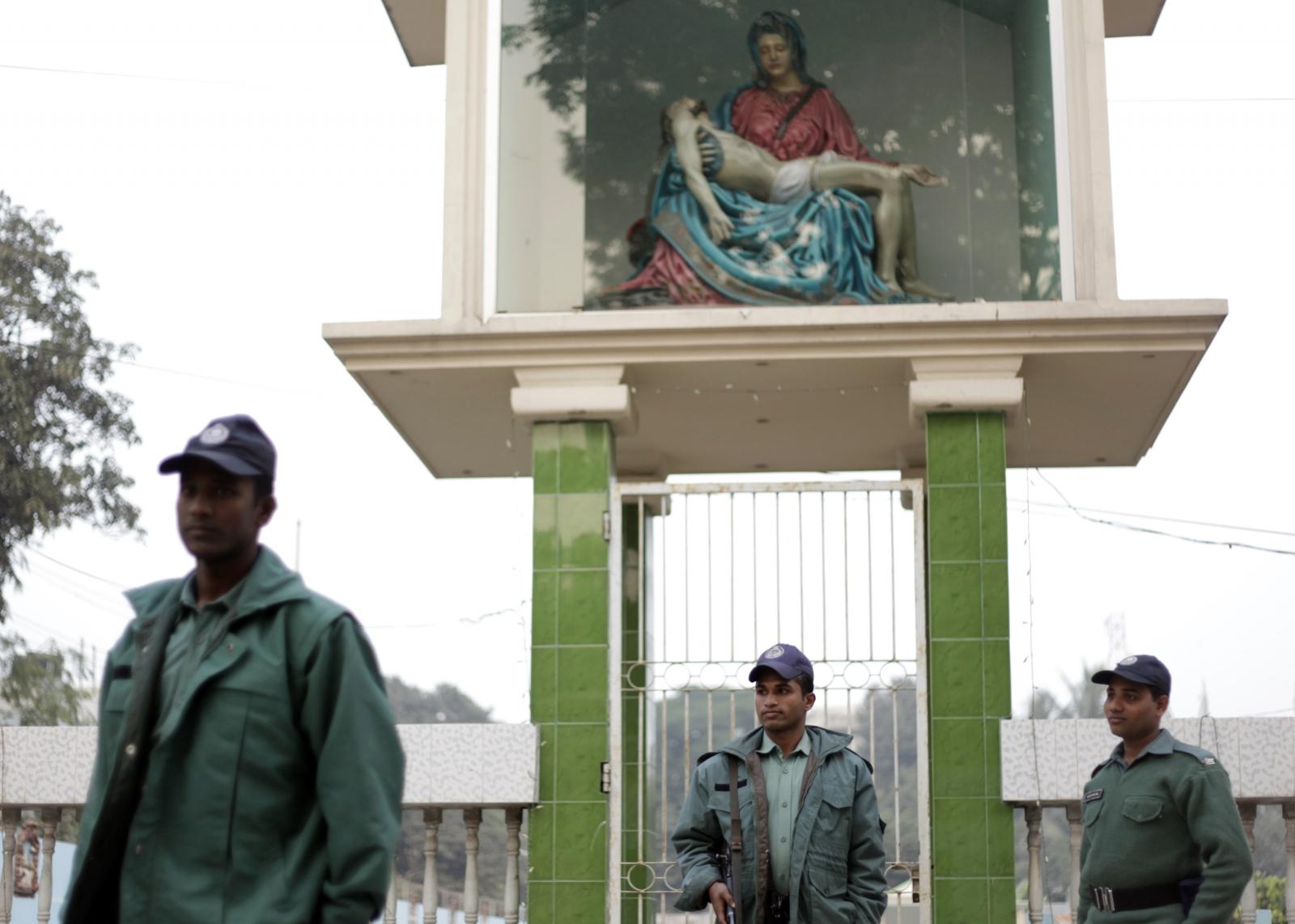 Bangladesh church guard hacked