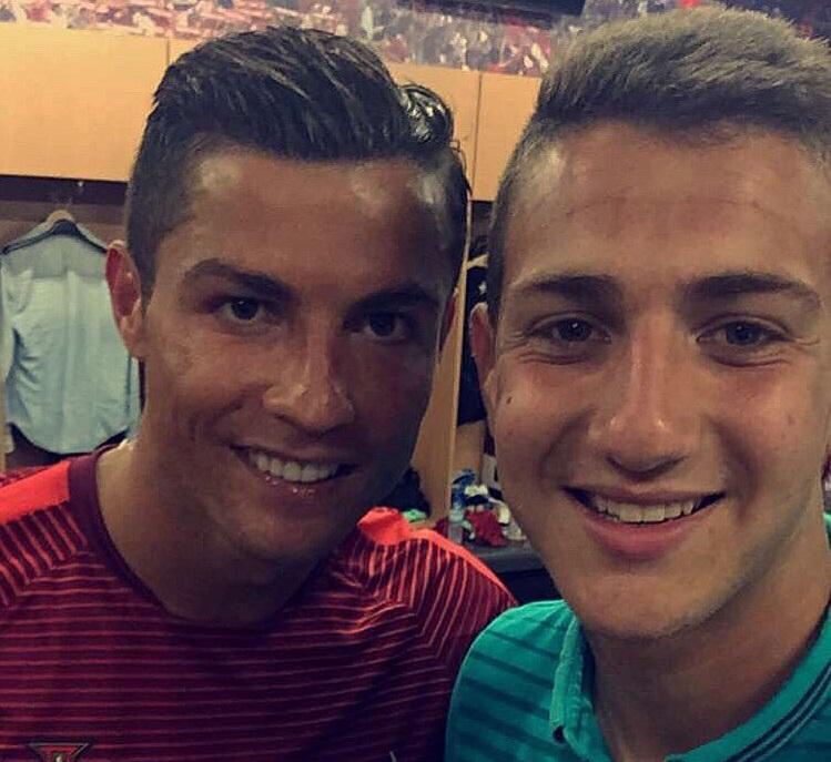 Diego Dalot and Cristiano Ronaldo