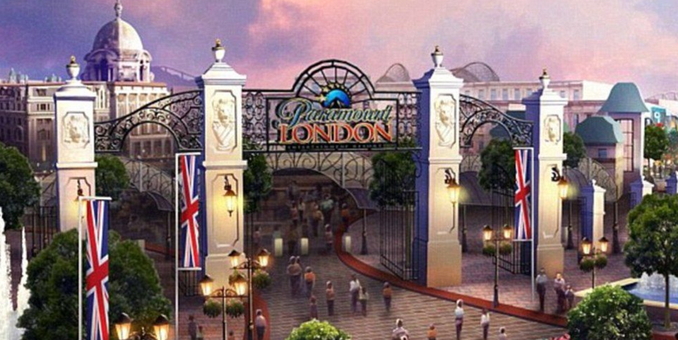 UK disneyland paramount theme park