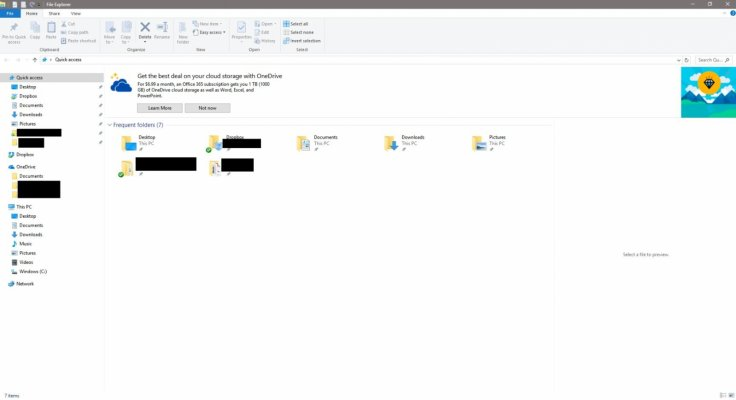 Windows 10 File Explorer ads