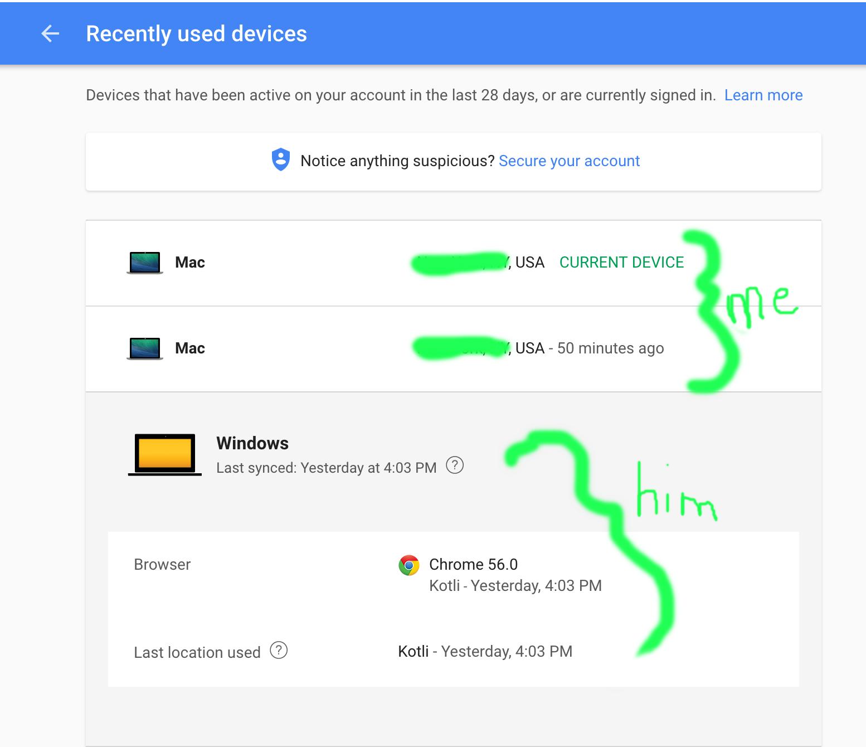 Proof hacker hijacked Zedeviles Gmail account