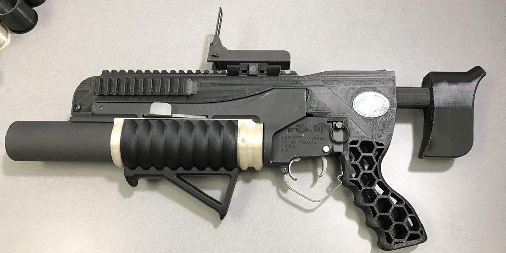 RAMBO 3D printed grenade launcher