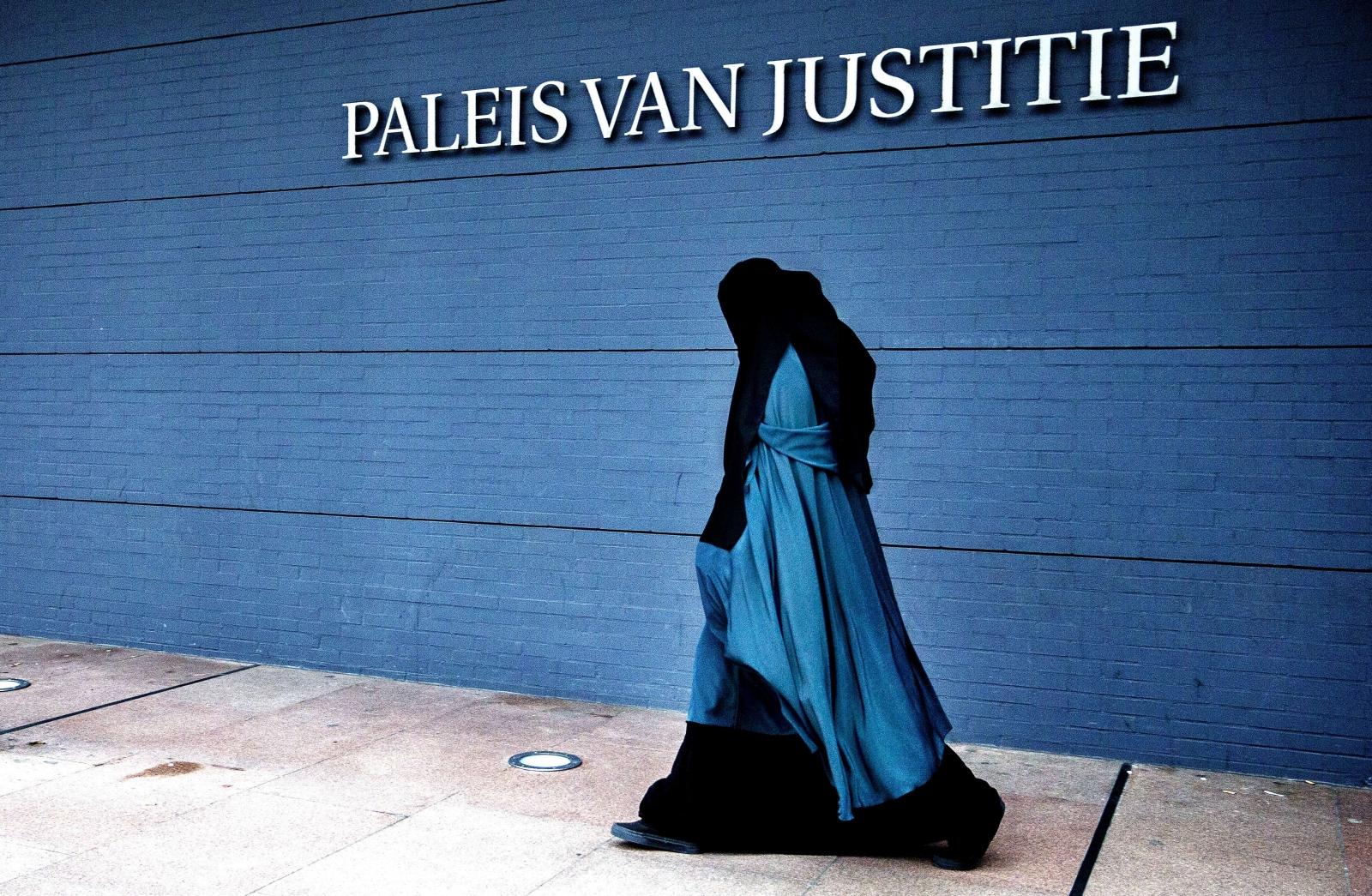 muslim woman burqa The Hague