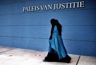 muslim woman burqa The Hague