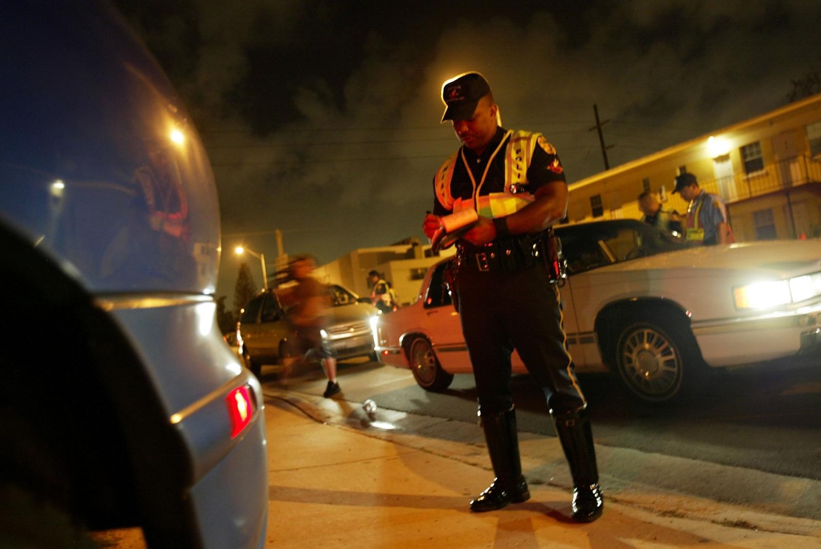 US traffic police